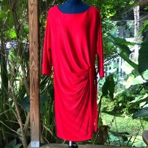 Shelby & Palmer | Red Faux Wrap Dress